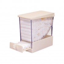 Cotton Roll Dispenser - White
