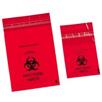 Bio Hazard Waste Bags - Stick On