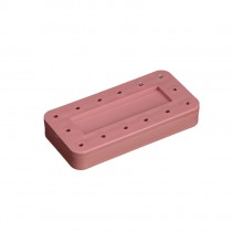 Rectangular Magnetic Bur Block - Coral